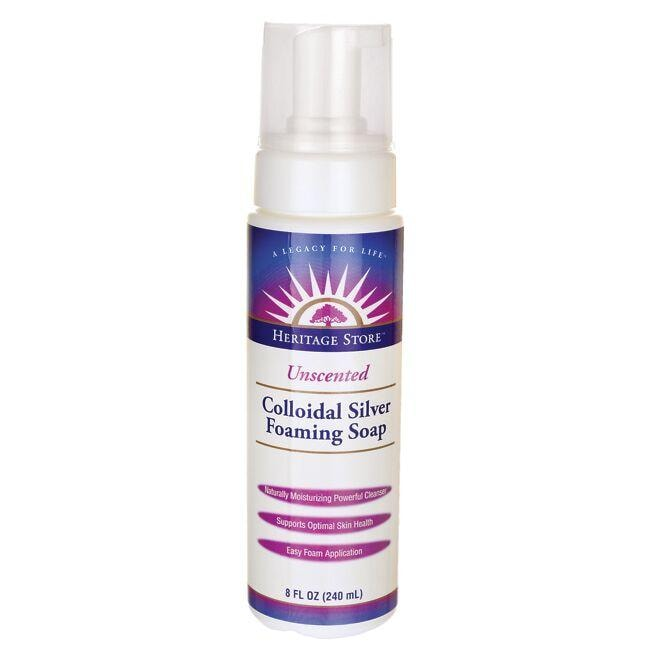 Heritage Products Colloidal Silver Foaming Soap Unscented
