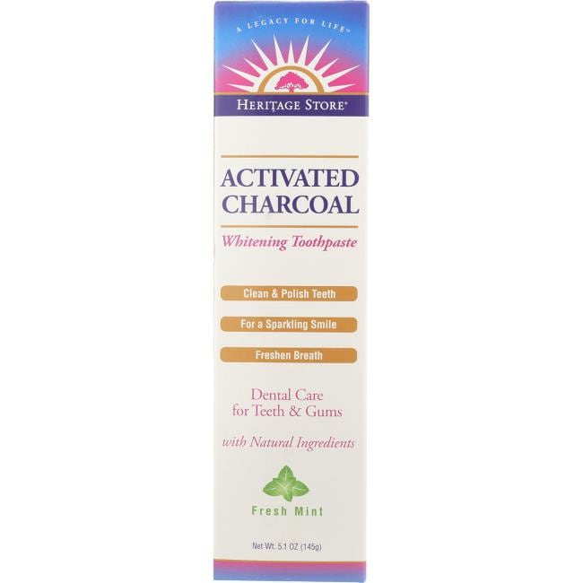 Heritage Products Whitening Activated Charcoal Toothpaste - Fresh Mint