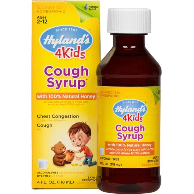 Hyland'sCough Syrup with 100% Natural Honey 4 Kids