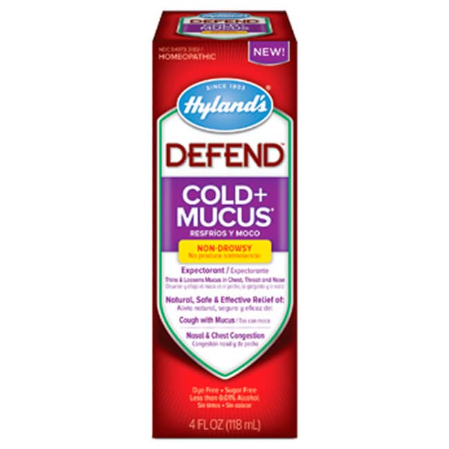 Hyland's Defend Cold + Mucus - Non-Drowsy 4 fl oz (118 mL) Liquid ...
