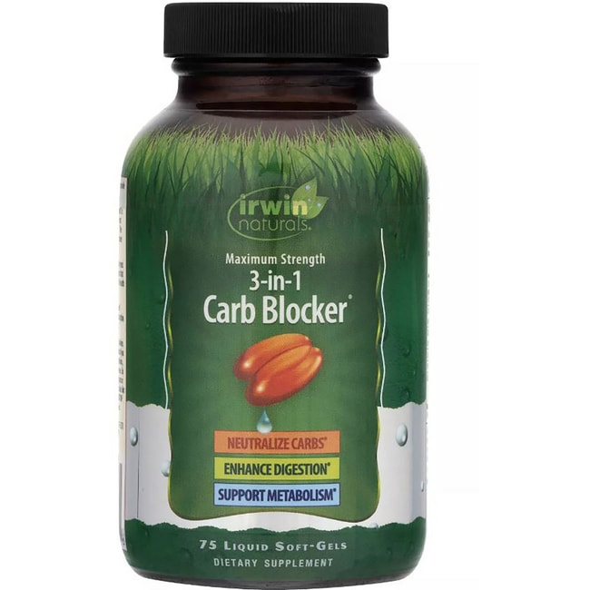 Irwin Naturals Maximum Strength 3 in 1 Carb Blocker