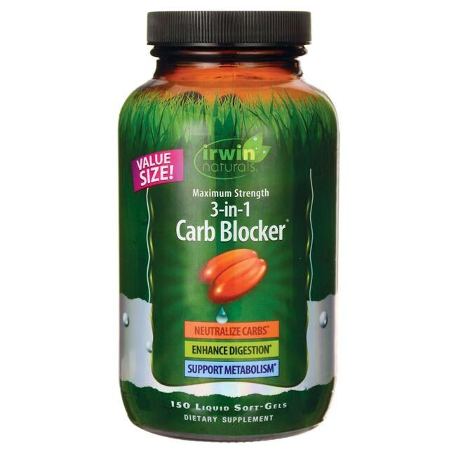 Irwin Naturals Maximum Strength 3-in-1 Carb Blocker