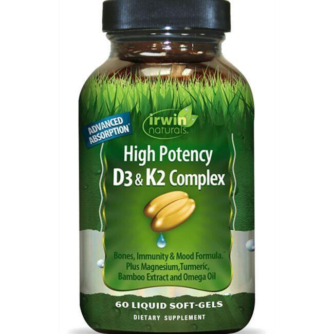 Irwin NaturalsHigh Potency D3 & K2 Complex