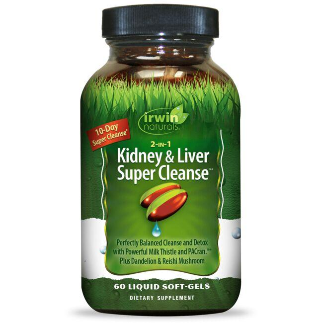 Irwin Naturals 2-IN-1 Kidney & Liver Super Cleanse