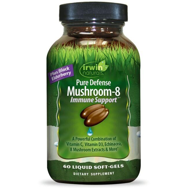 Irwin Naturals Pure Defense Mushroom-8 Immune Support
