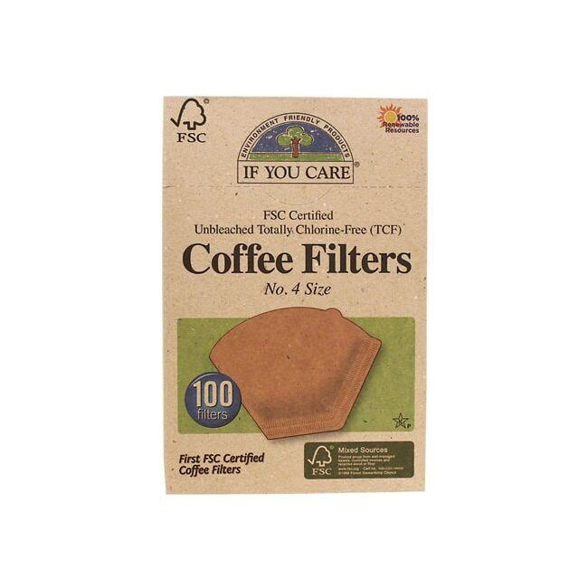 If You CareUnbleached Coffee Filters No. 4
