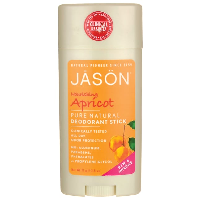 Jason NaturalPure Natural Deodorant Stick - Nourishing Apricot