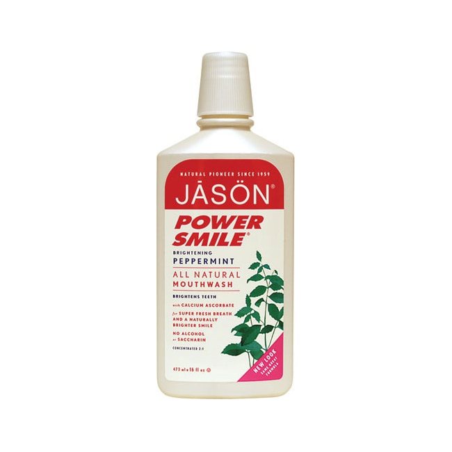 Jason natural powersmile brightening peppermint mouthwash 16 fl oz liquid swanson health products - Unusual uses for mouthwash ...