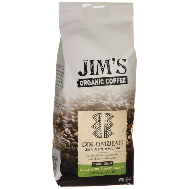 Jim's Organic Coffee Whole Bean Coffee - Colombia