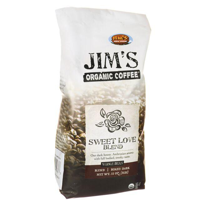 Jim's Organic Coffee Whole Bean Coffee - Sweet Love Blend