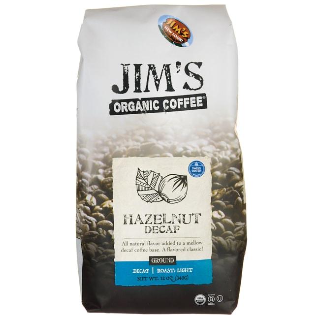Jim's Organic CoffeeGround Coffee - Hazelnut Decaf