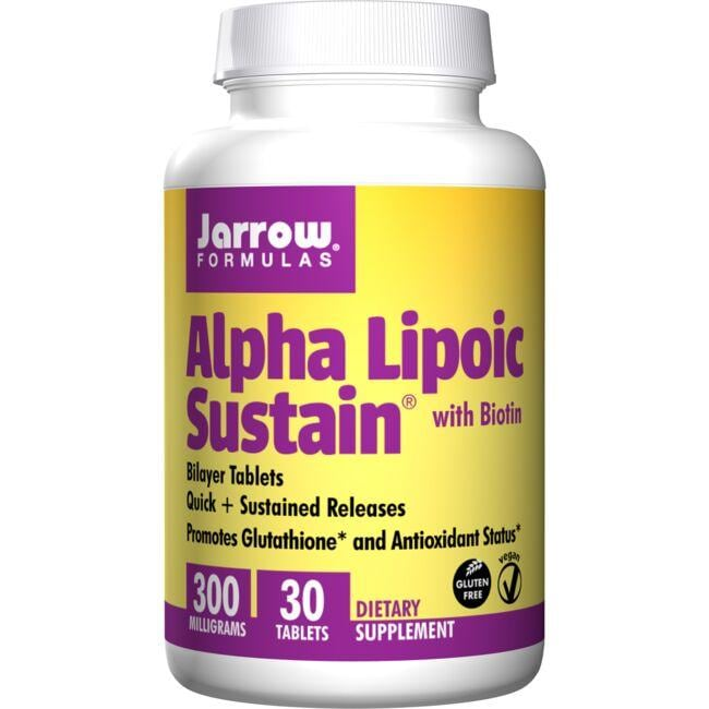 Jarrow Formulas, Inc. Alpha Lipoic Sustain 300 with Biotin
