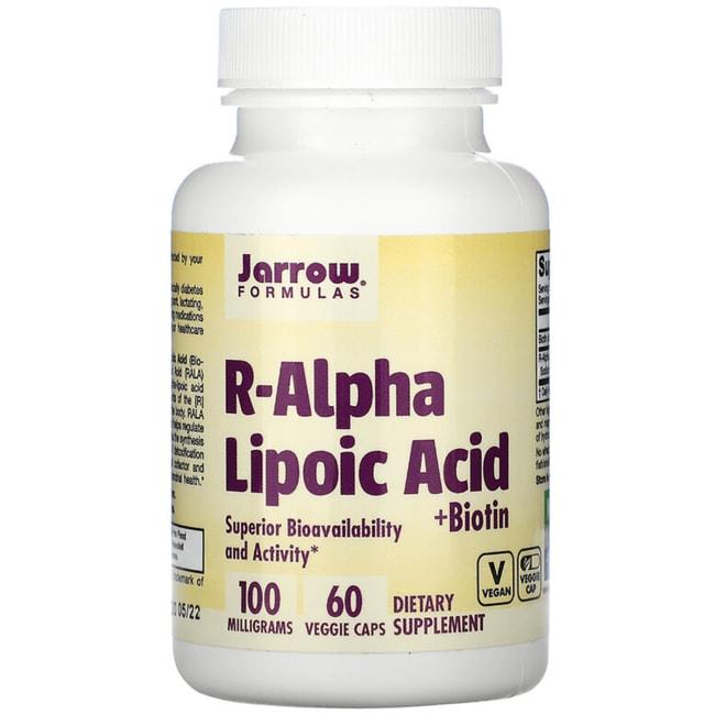 Jarrow Formulas, Inc. R-Alpha Lipoic Acid with Biotin