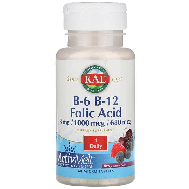 KalB-6 B-12 Folic Acid - Berry