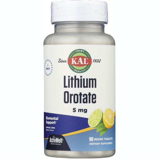 KalLithium Orotate ActivMelt - Lemon Lime
