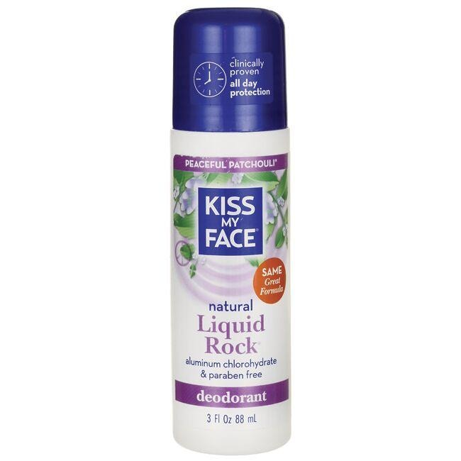 Kiss My Face Liquid Rock Roll-On Deodorant Peaceful Patchouli