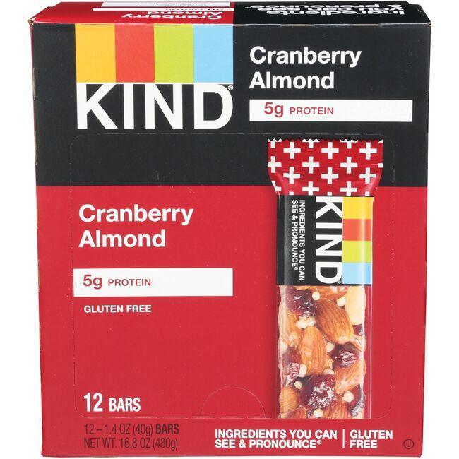 Kind Kind Plus Bars Cranberry Almond + Antioxidants 12 Bar(s