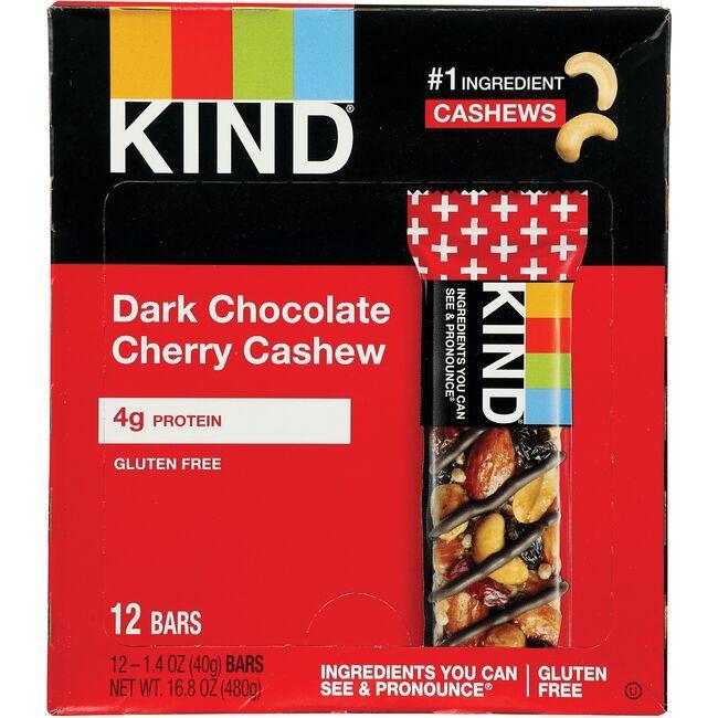 KindPlus Bars Dark Chocolate Cherry Cashew