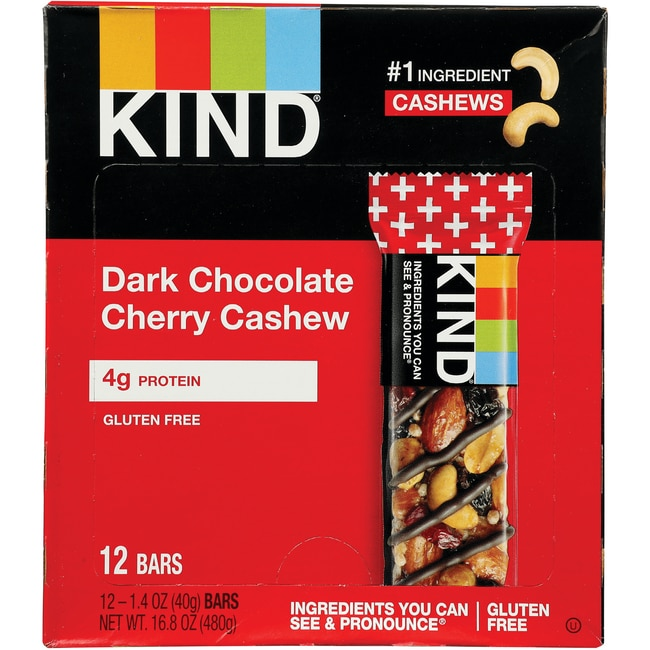 Kind Plus Bars Dark Chocolate Cherry Cashew