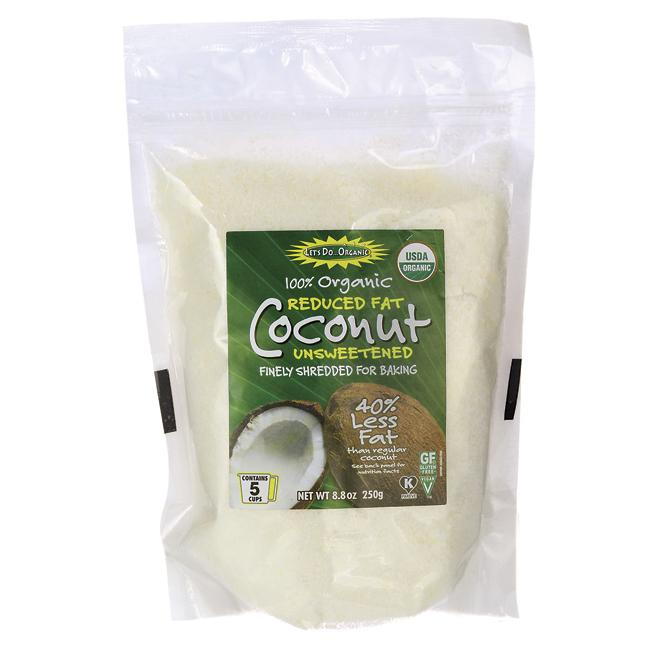 Let's Do Organic 100% Organic Reduced Fat Finely Shredded Coconut-Unswee