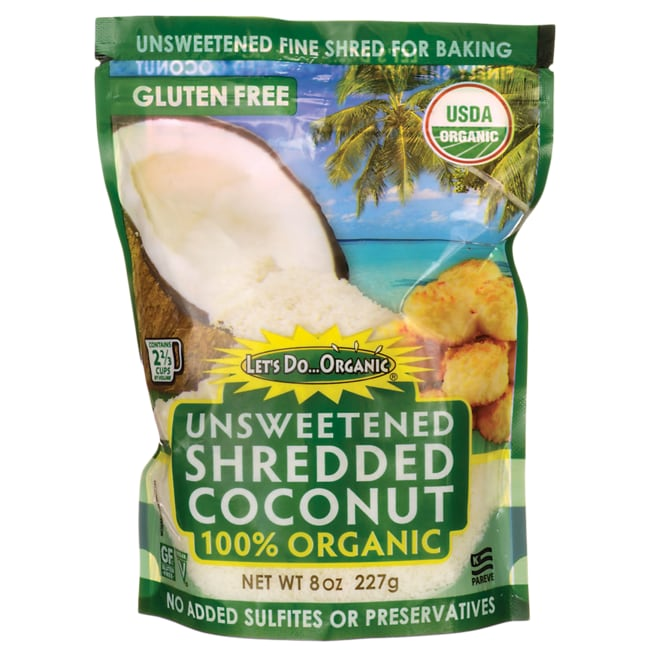 Let's Do Organic 100% Organic Finely Shredded Coconut - Unsweetened