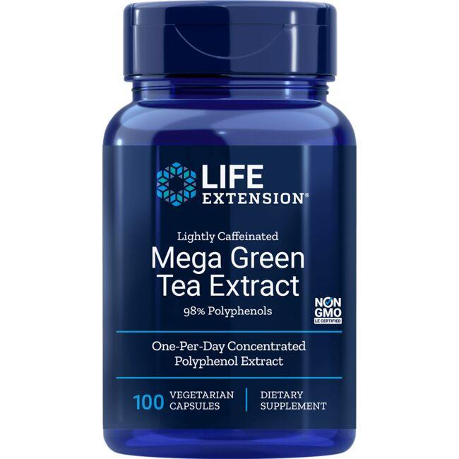 Life Extension Mega Green Tea Ext Lightly Caffeinated