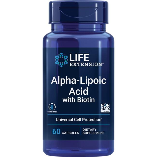 Life Extension Super Alpha-Lipoic Acid Biotin