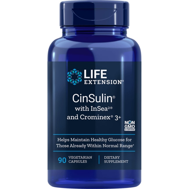 Life Extension CinSulin with InSea2 and Crominex 3+