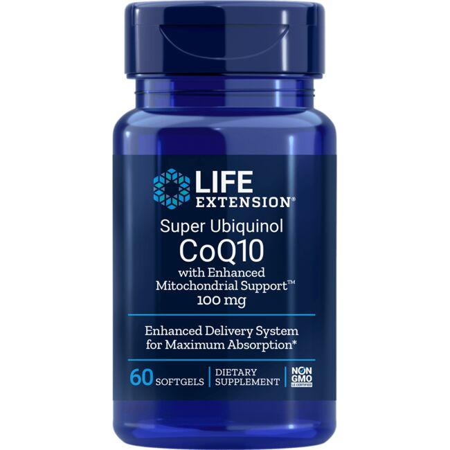 Life ExtensionSuper Ubiquinol CoQ10 with Enhanced MitochondrialSupport