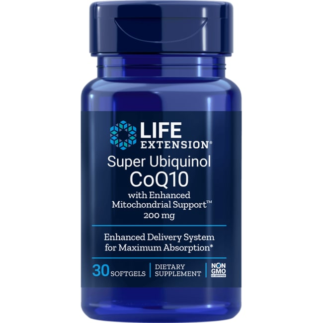 Life Extension Super Ubiquinol CoQ10 with Enhanced Mitochondrial Support