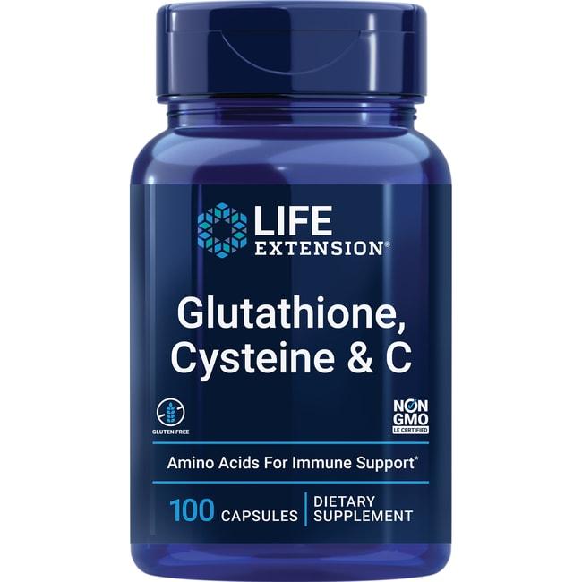 Life Extension Glutathione, Cysteine & C 100 Veg Caps ...