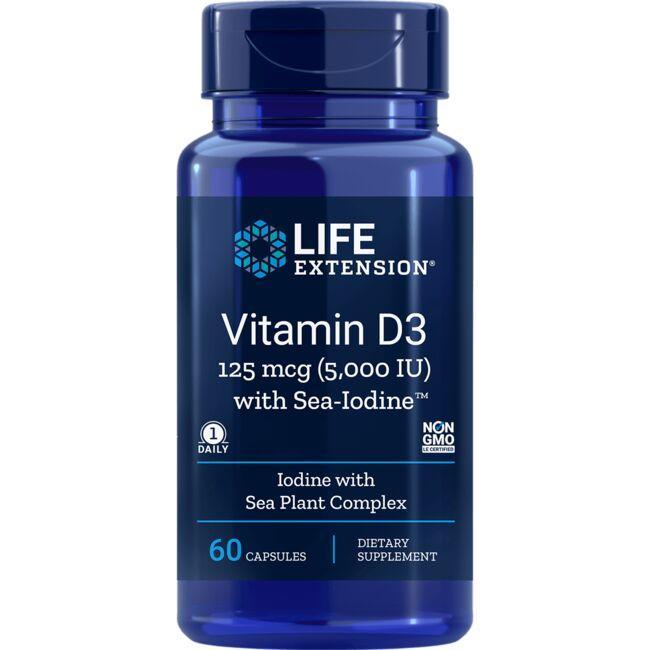 Life ExtensionVitamin D3 5,000 IU with Sea-Iodine