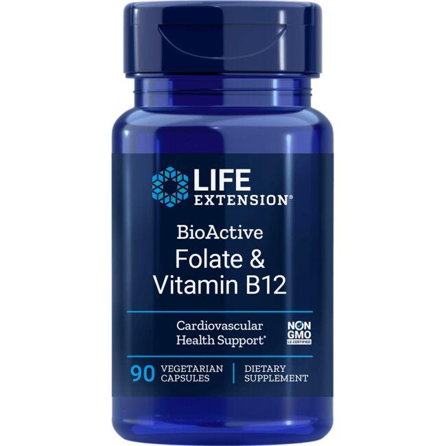 Life ExtensionBioActive Folate & Vitamin B12