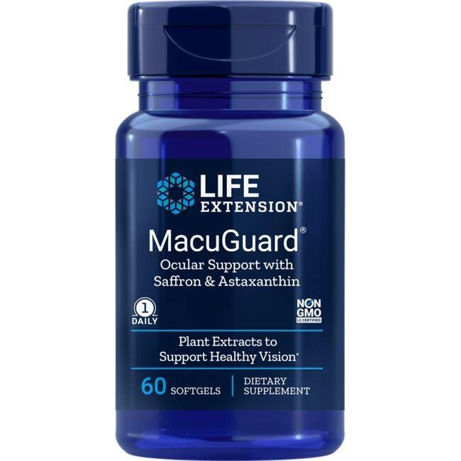 Life Extension MacuGuard Ocular Support with Saffron & Astaxanthin
