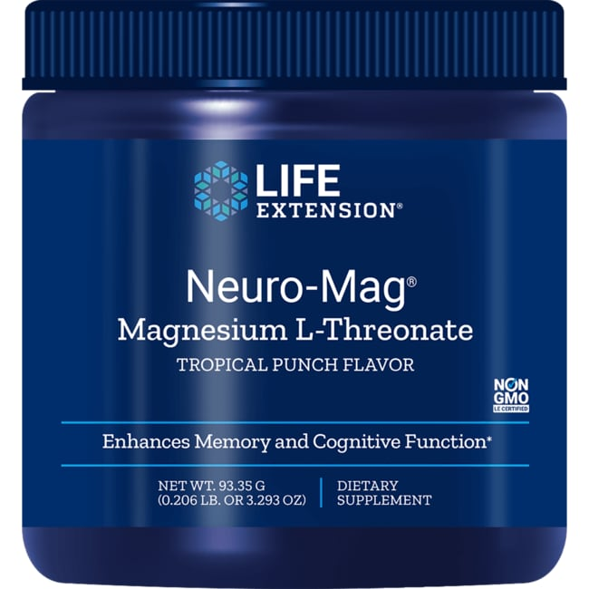 Life ExtensionNeuro-Mag Magnesium L-Threonate - Tropical Punch
