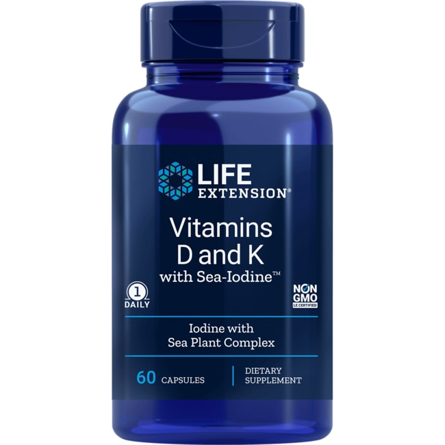 Life ExtensionVitamins D and K with Sea-Iodine