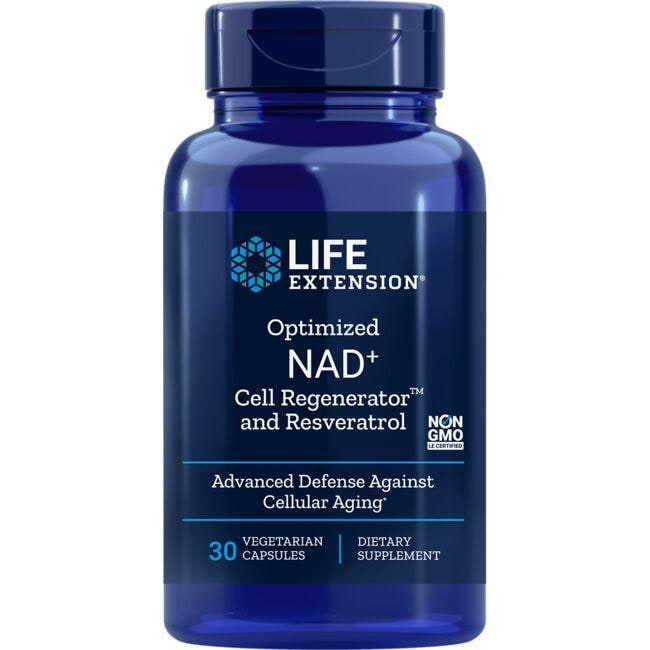 Life Extension Optimized NAD+ Cell Regenerator and Resveratrol