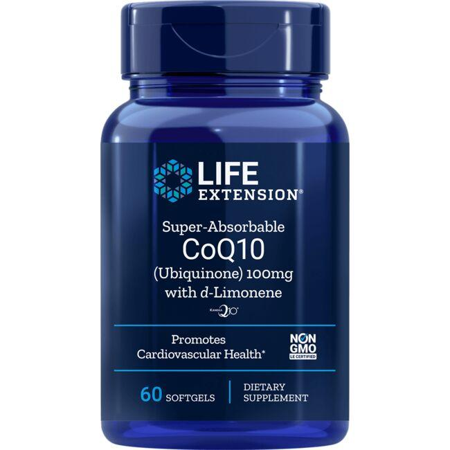 Life ExtensionSuper-Absorbable CoQ10 (Ubiquinone) with d-Limonene