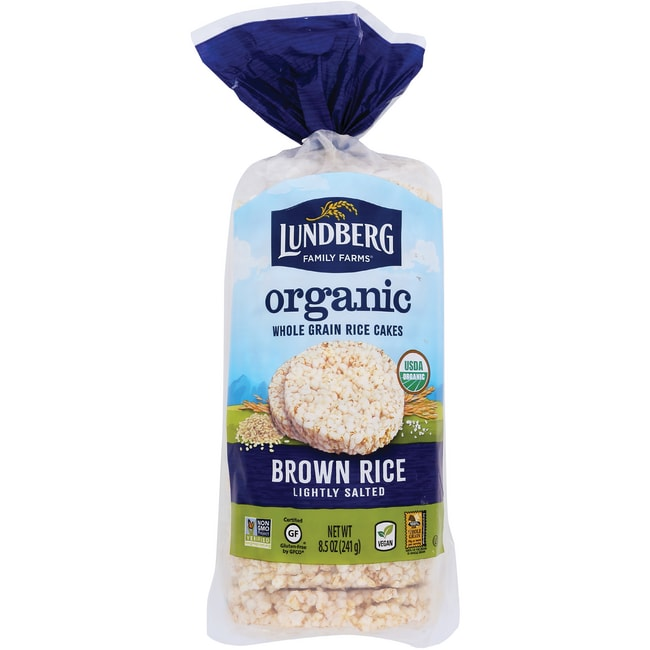 Lundberg Family FarmsOrganic Brown Rice Cakes - Lightly Salted