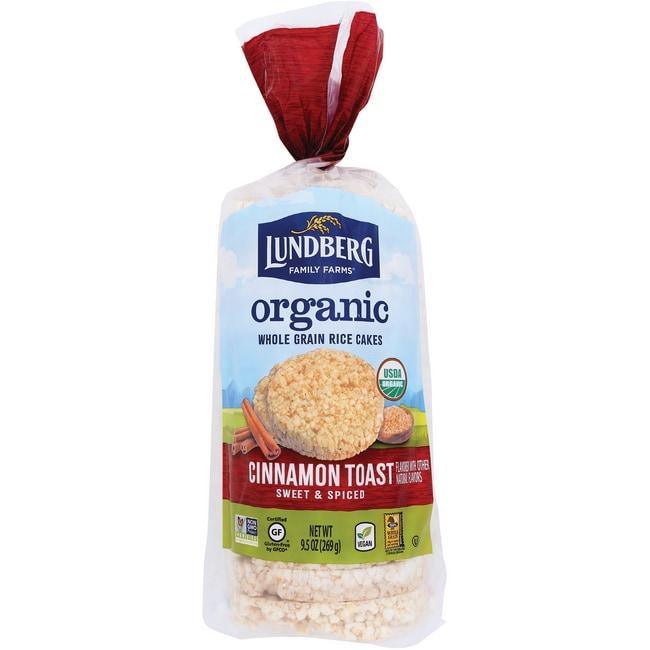 Lundberg Family Farms Organic Rice Cakes Cinnamon Toast