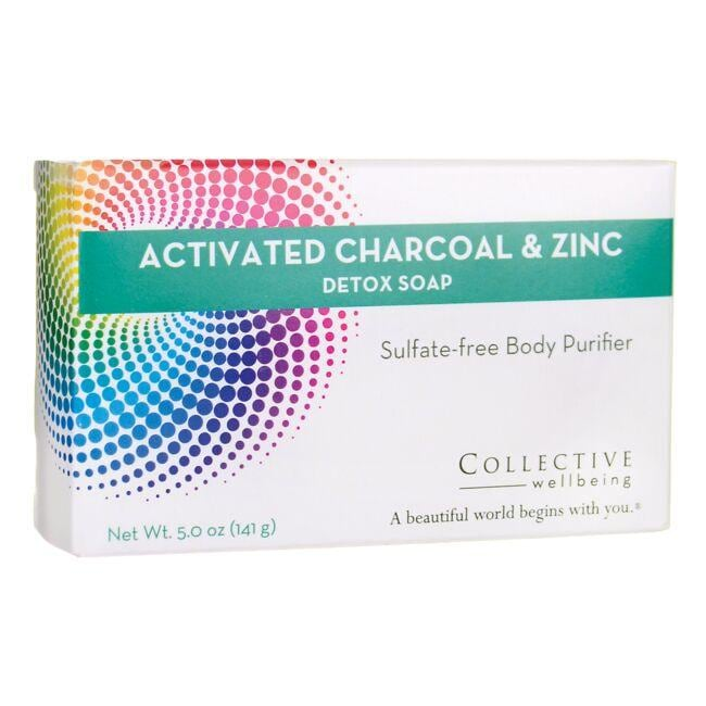 Life-Flo Collective Wellbeing Activated Charcoal & Zinc Detox Soap