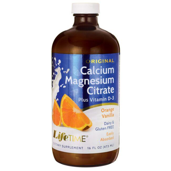 Lifetime Vitamins Calcium Magnesium Citrate Plus Vitamin D-3 - Orange Vanilla