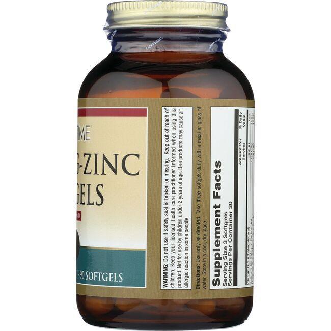 Lifetime VitaminsCal-Mag-Zinc Softgels with Vitamin D Close Up