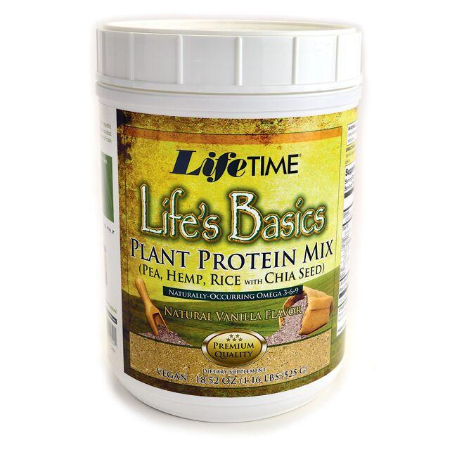 Lifetime Vitamins Life's Basics Plant Protein Mix Powder - Natural Vanilla