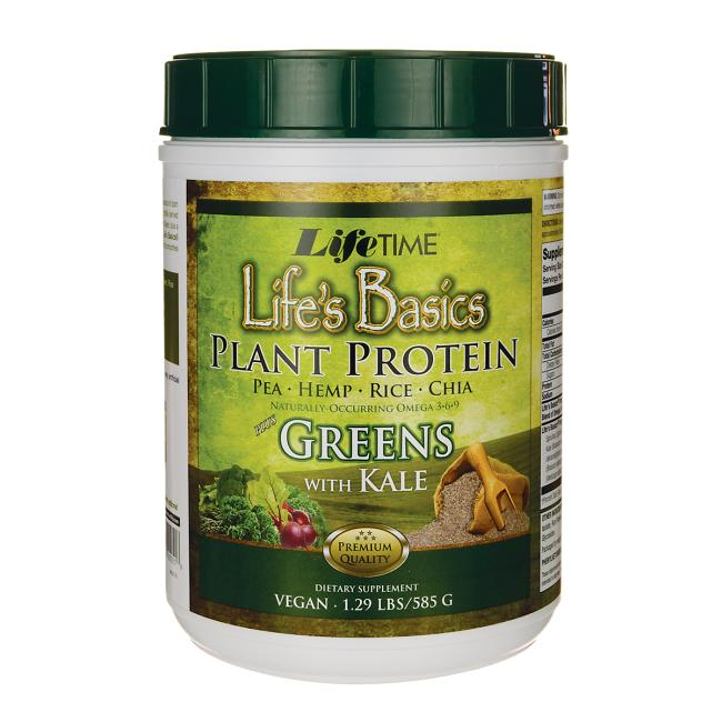 Lifetime Vitamins Life's Basics Plant Protein Plus Greens With Kale