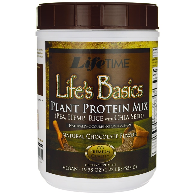 Lifetime Vitamins Life's Basics Plant Protein Powder - Chocolate