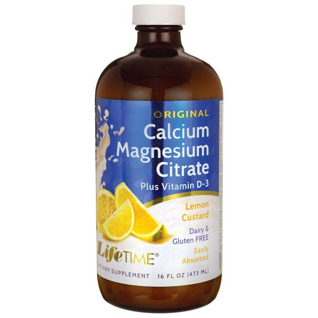Lifetime Vitamins Original Calcium MagnesiumCitrate + Vitamin D3 Lemon Custard