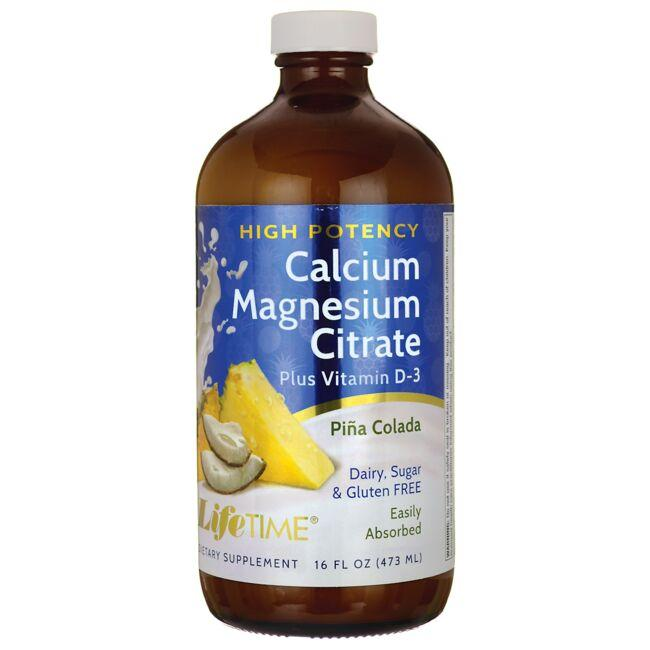 Lifetime Vitamins High Potency Calcium Magnesium Citrate + D3 (Pina  Colada)