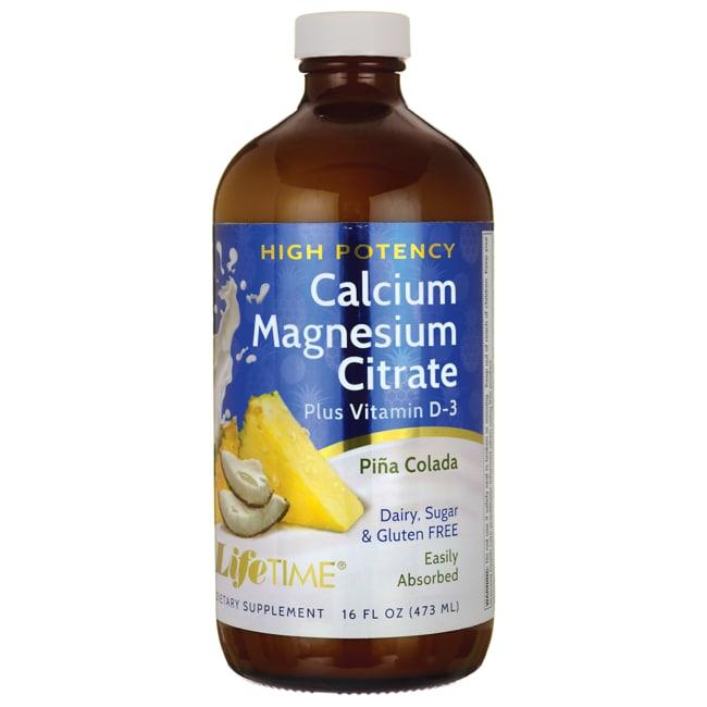 Lifetime Vitamins Calcium Magnesium Citrate Plus Vitamin D-3 Pina Colada