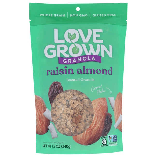 Love Grown Foods Oat Clusters Toasted Granola - Raisin Almond Crunch